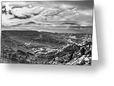 Panoramic Of The Grand Canyon Greeting Card