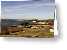 Panoramic Of Woods Hole  Greeting Card