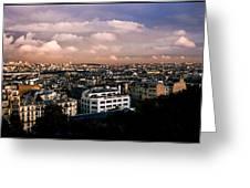 Panoramic Paris Sky.  Greeting Card