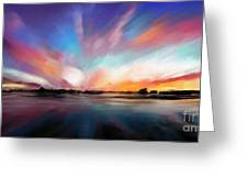 Panoramic Seascape Greeting Card
