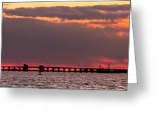 Panoramic Sunset 3-18-2016 V2 Greeting Card