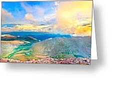 Panoramic Sunset On Mount Evans Greeting Card