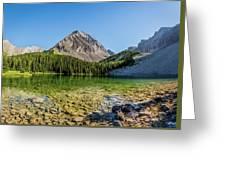 Panoramic View Of Chester Lake Greeting Card