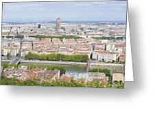Panoramic View Of City Greeting Card