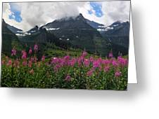 Panoramic View Of 'going To Sun Road' Greeting Card