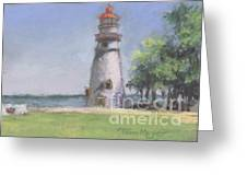 Panoramic View Of Marblehead Lighthouse Greeting Card