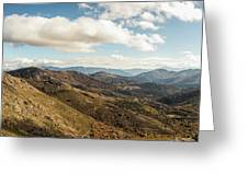 Panoramic View Of Olmi Cappella Valley With In Corsica Greeting Card