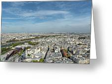Panoramic View Of Paris From The Top Of The Tower Greeting Card