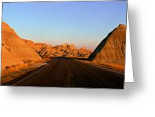 Panoramic View Of Road Going Greeting Card