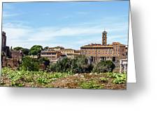 Panoramic View Of Rome Greeting Card