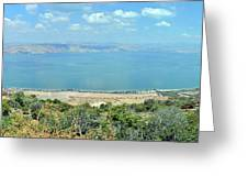 Panoramic View Of The Sea Of Galilee Greeting Card