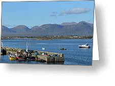 Panoramic View Roundstone Harbour Greeting Card