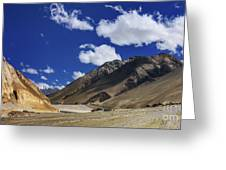 Panrama Of Mountains Ladakh Jammu And Kashmir India Greeting Card
