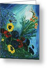 Pansies And Poise Greeting Card