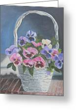 Pansies For A Friend Greeting Card