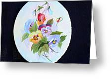 Pansies Posing Greeting Card by Alanna Hug-McAnnally
