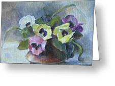 Pansies Greeting Card by Tigran Ghulyan