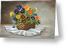 Pansy Basket Greeting Card