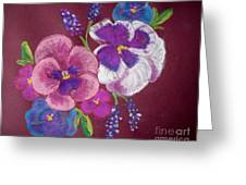 Pansy Grandeur Greeting Card