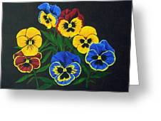 Pansy Lions Greeting Card