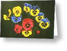 Pansy Lions Too Greeting Card