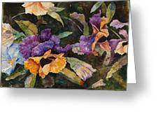 Pansy Tangle Greeting Card