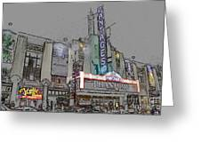 Pantages Theater Hollywood Greeting Card