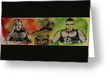 Killmonger Vs Tchalla Greeting Card