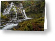 Panther Creek Falls In Autumn Greeting Card