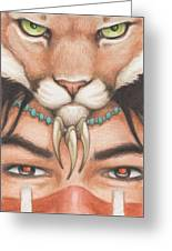 Panther Warrior Greeting Card