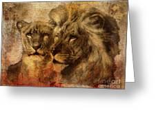 Panthera Leo 2016 Greeting Card