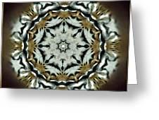Panthera Tigris Kaleidoscope Greeting Card