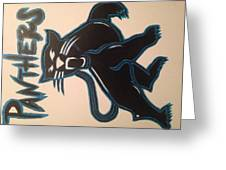 Panthers Nfl Logo Greeting Card