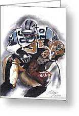 Panthers Vs Saints Greeting Card