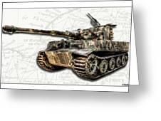 Panzer Tiger I Side Greeting Card