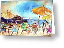 Papagayo Beach Bar In Lanzarote Greeting Card