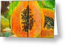 Papaya Dreaming Greeting Card