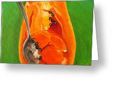 Papaya Greeting Card