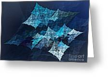 Paper Blue Greeting Card