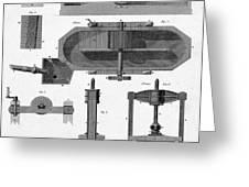 Paper Mill Diagram, 1814 Greeting Card