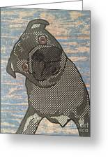 Paper Pug Greeting Card