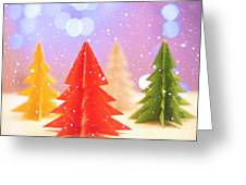 Paper Trees Greeting Card