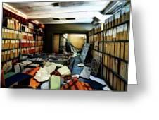 Papers Lodging - Luoghi Abbandonati Delle Passeggiate A Levante Deposito Carte  Greeting Card