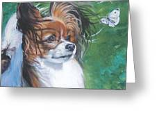 Papillon And Butterflies Greeting Card
