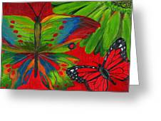 Papillon Rouge Greeting Card