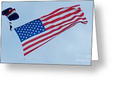 Parachute And Flag Greeting Card