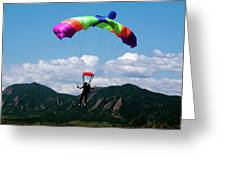 Parachuting Greeting Card