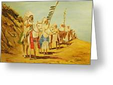 Parade Of The Chiefs Greeting Card by G Kay Cummings
