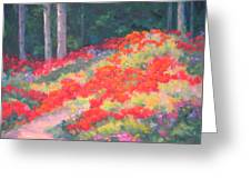 Parade Of The Poppies Greeting Card