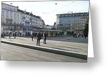 Paradeplatz - Bahnhofstrasse, Zurich Greeting Card